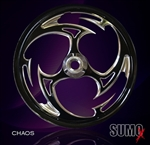 Custom Chaos Motorcycle billet wheel